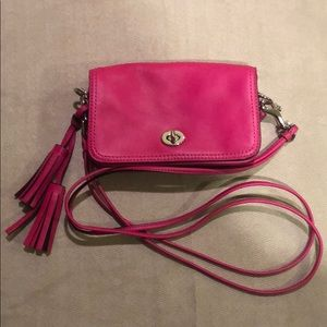 Hot pink Coach cross bossy bag